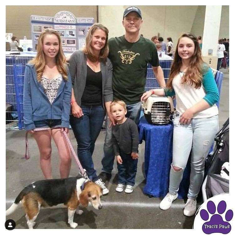 Family just adopted a cat from the Traci's Paws' hosted pet adoption event.