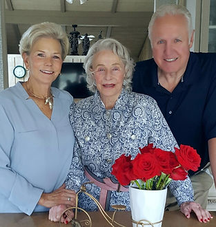 """Bruce Steckel pictured with his wife Sheryl and mother-in-law Ruth. Bruce supports helping seniors """"Age in Place""""."""