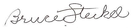 Bruce Steckel's Autograph_Signature WCA