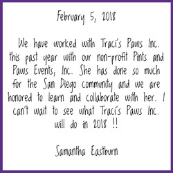 5 Star Review for Traci's Paws