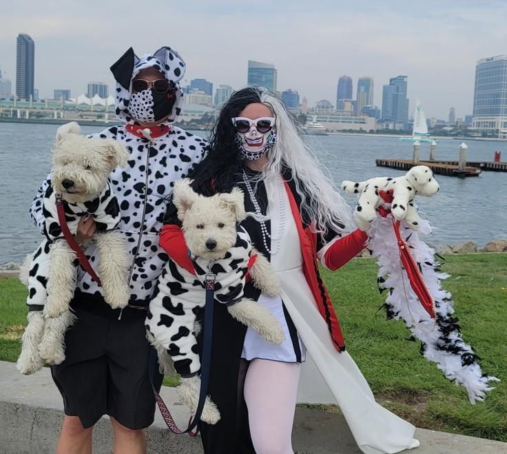 Cruella De Vill and her Hundred and Three Dalmations