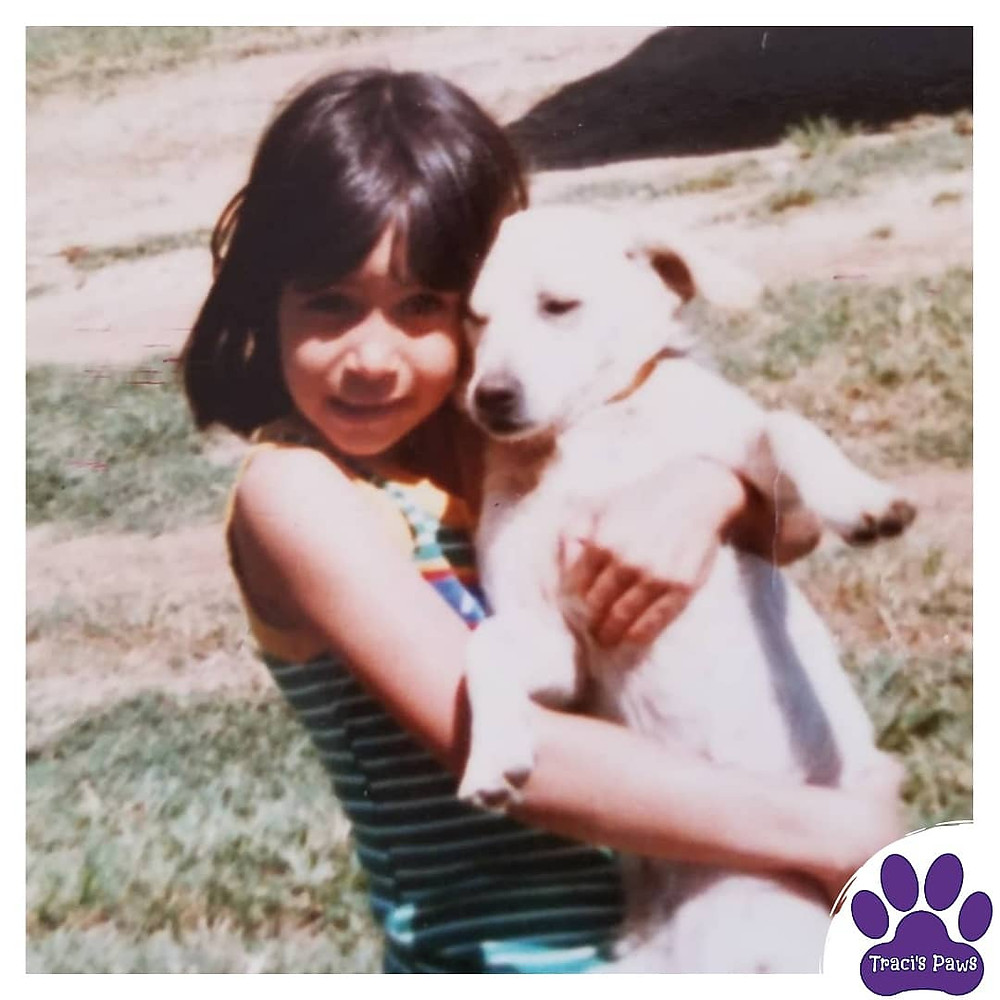 Traci Wilkerson Steckel with one of her childhood pets, Cheerleader.