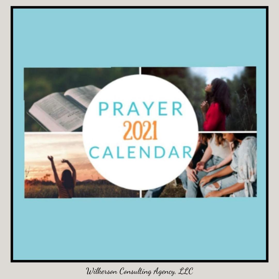 2021 Prayer Calendar by Jaimie L. Davis