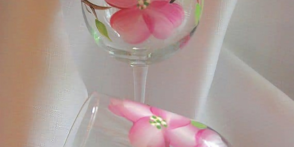 """""""Welcome Spring!"""" Wine Glass Painting"""
