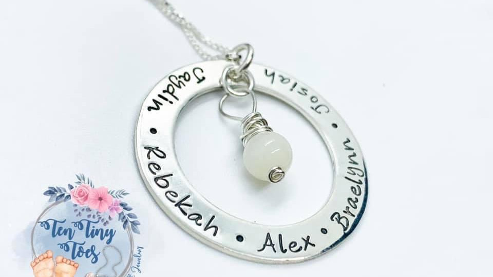 Personalized Washer Pendant Necklace
