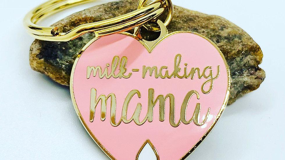 Milk-Making Mama Enamel Keychain