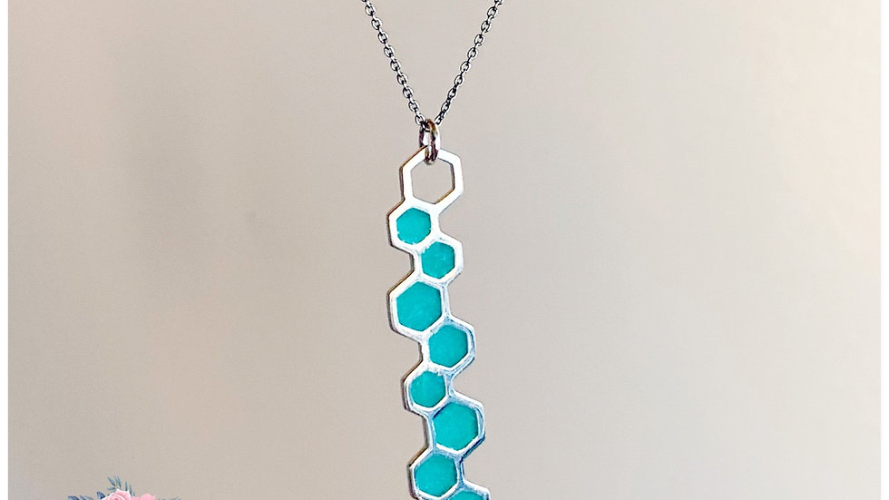 Skinny Honeycomb Necklace