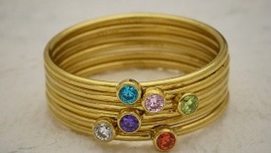 Gold Stackable Birthstone Ring