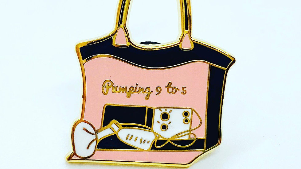 Pump Bag Enamel Pin