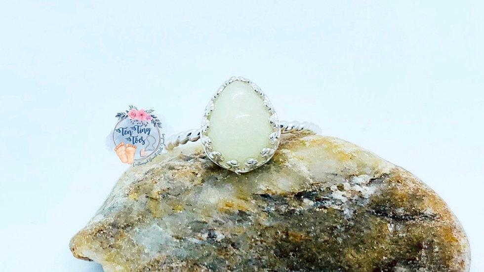 Pear Crown Bezel Ring