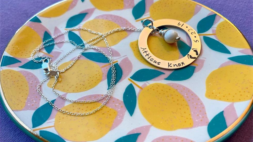 Washer Pendant Necklace
