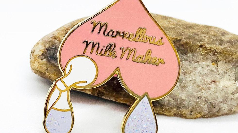 Marvelous Milk Maker Enamel Pin