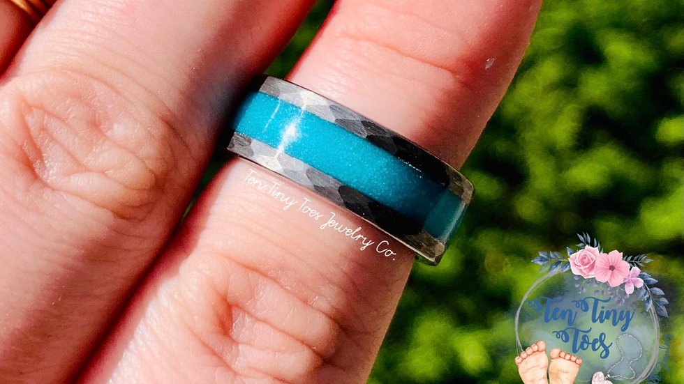Hammered Tungsten Ring