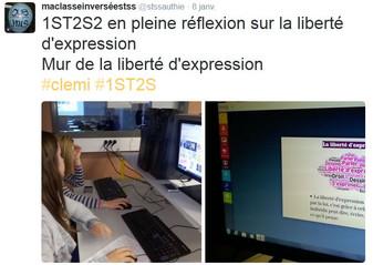 Le Mur de la Liberté d'Expression - Clémi - Quelques tweets de la classe... @stssauthie