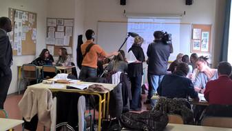 TF1 dans notre classe pour le journal de 20 h !