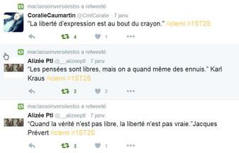 Le Mur de la Liberté d'Expression - Clémi - Quelques tweets de la classe suite... @stssauthie