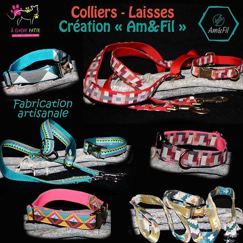 Colliers - Laisses * Création AM&FIL