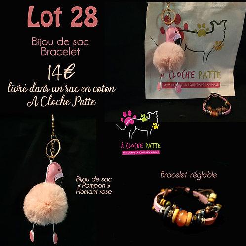 Lot 28 - Bracelet + Bijou de sac