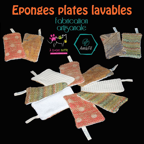 """Eponges plates """"Hand Made"""""""