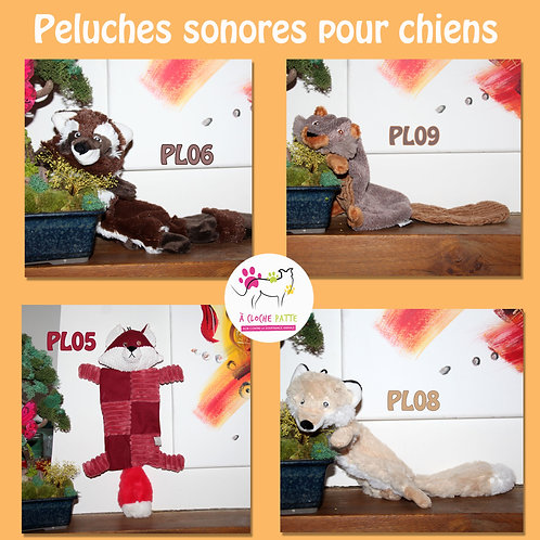 Peluches sonores chiens