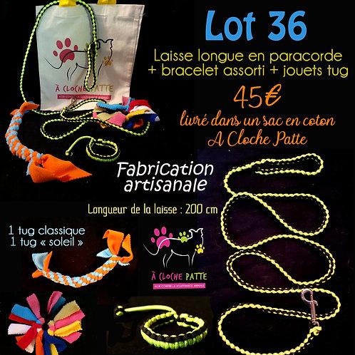 Lot 36 - Laisse paracorde + bracelet + tugs