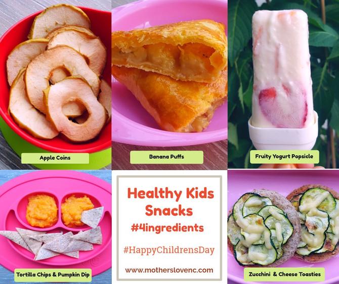 Healthy Kids Snacks with just 4 Ingredients!