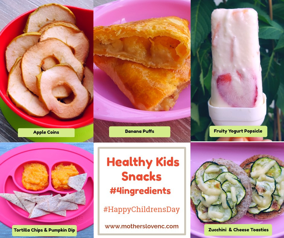 Healthy Kids snacks with less than 4 ingredients