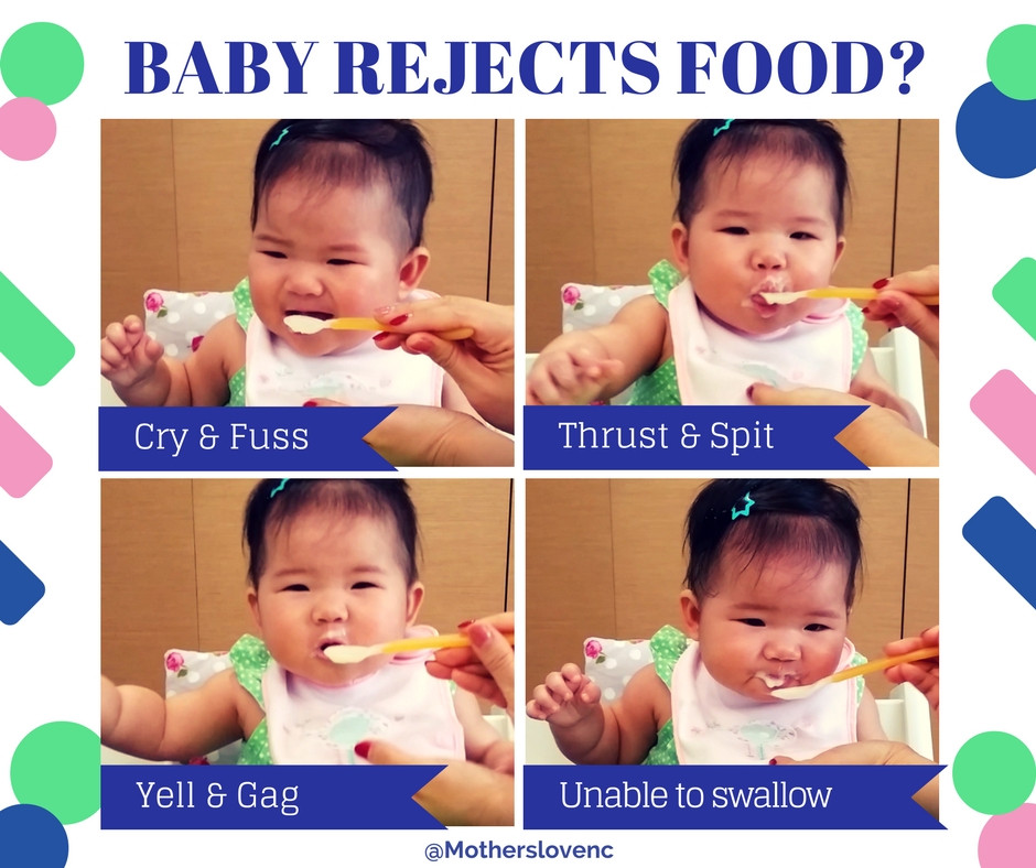 Baby reject food and tongue protrusion
