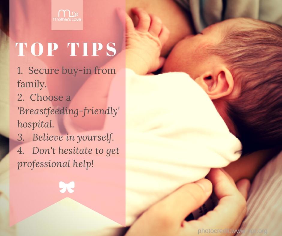 Top tips for breastfeeding preparation