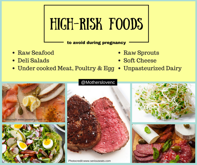 Avoid high risk foods during pregnancy