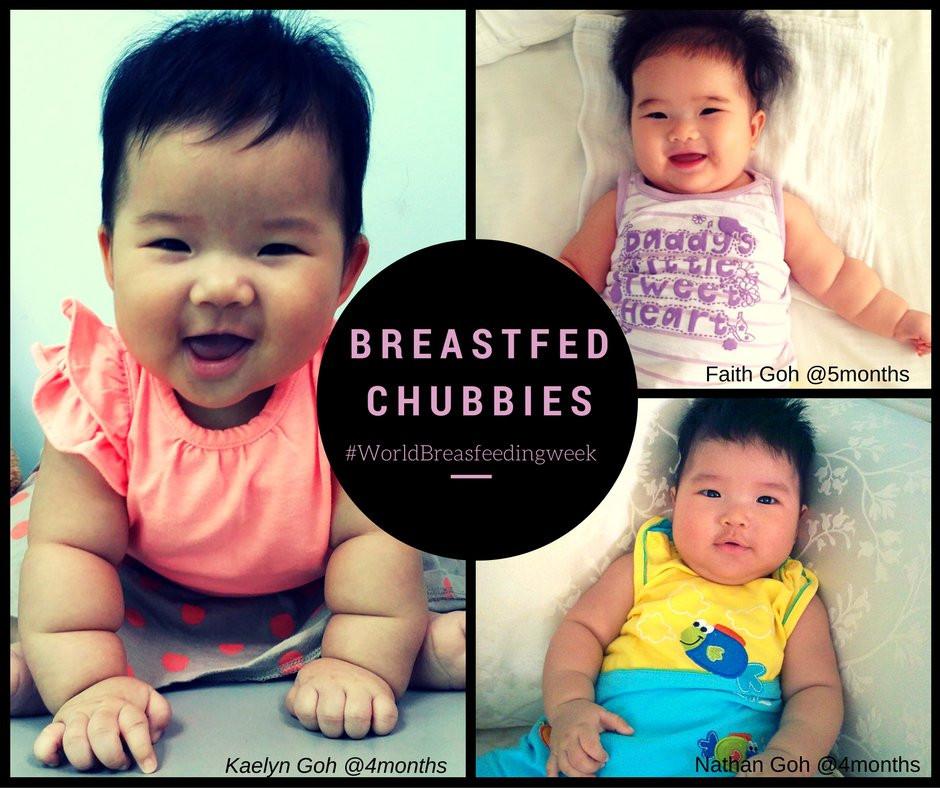 Breastfeed babies. breastmilk. chubby babies