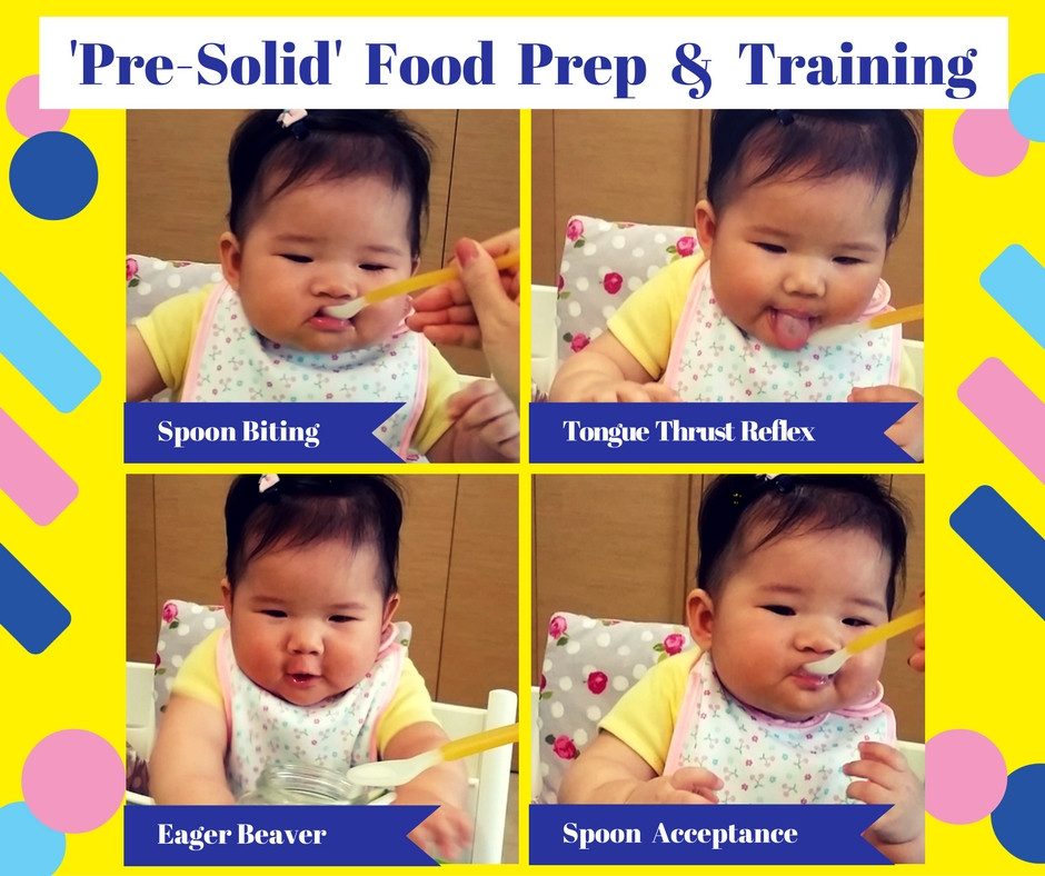Pre-solid food preparation & training. (feat Baby Kaelyn)