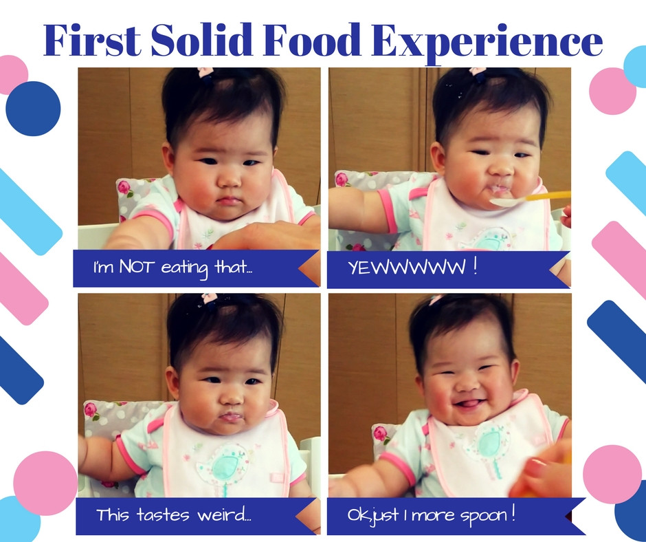 baby K first food experience