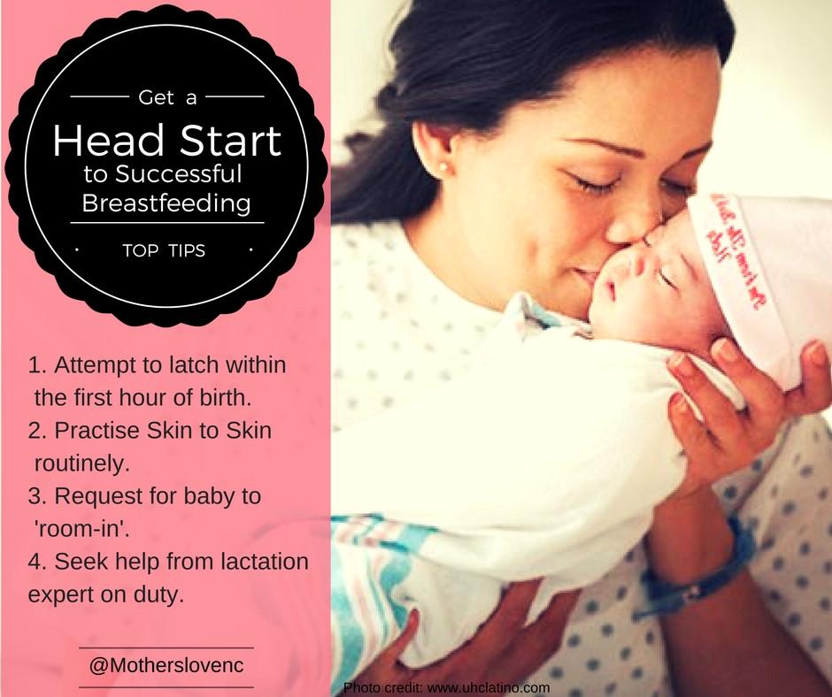 Head start to breastfeeding