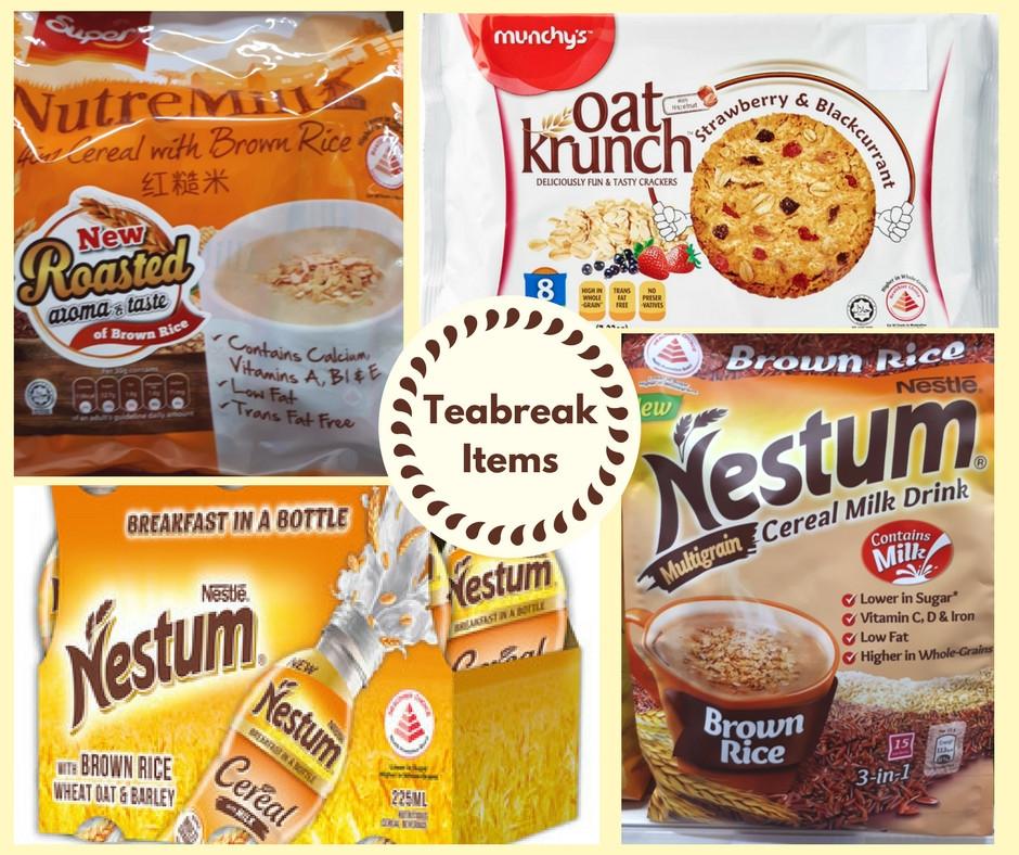 Whole grainTeabreak items Mothers love Nutrition Consultancy