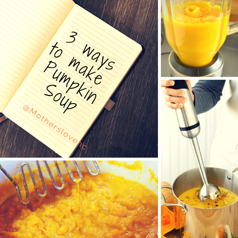 3 ways to make pumpkin soup