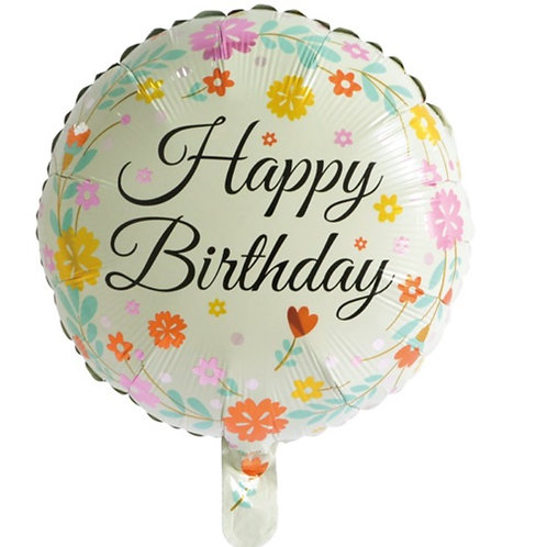 Floral Birthday Balloon