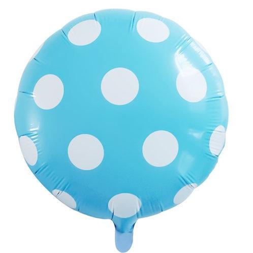 Blue Dotty Balloon