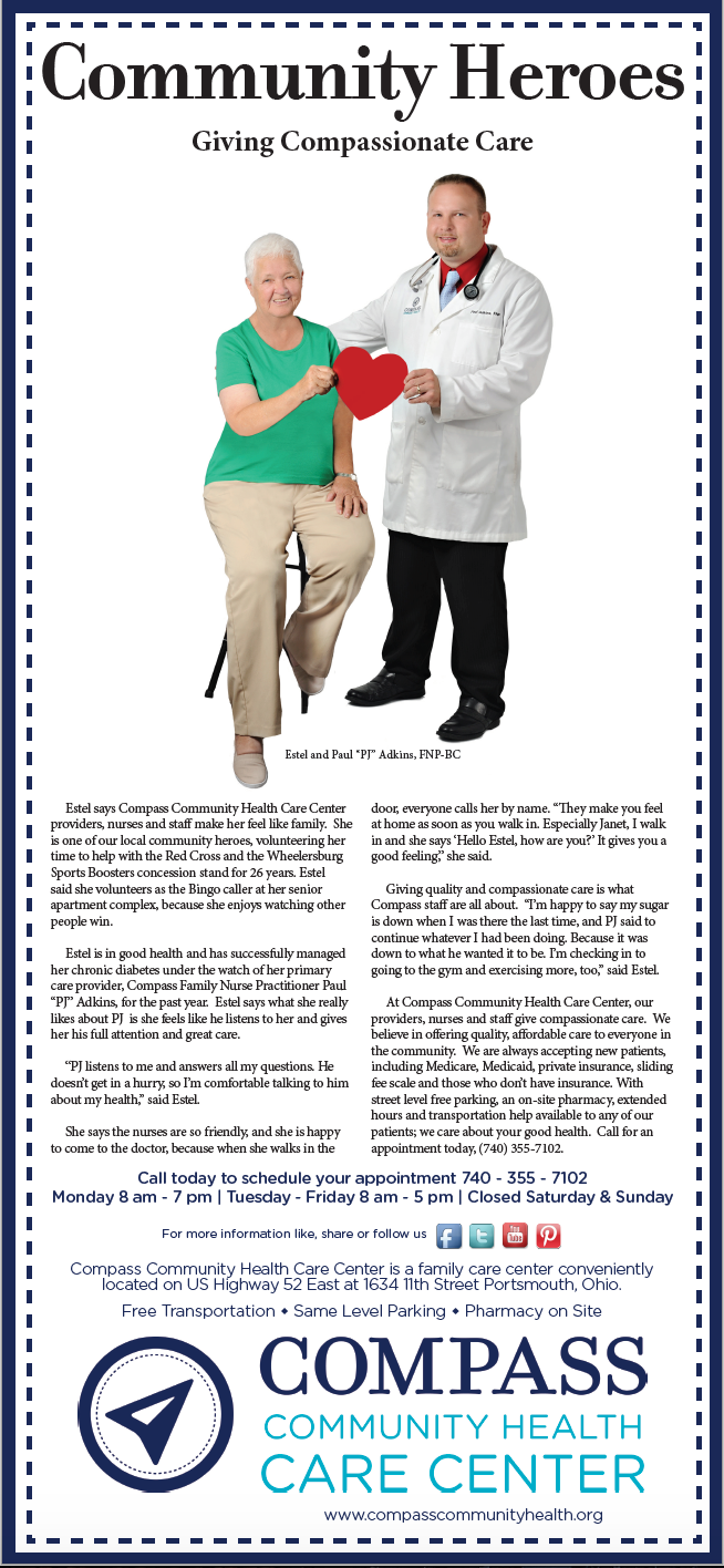 Compass Community Health Full Page News Ad