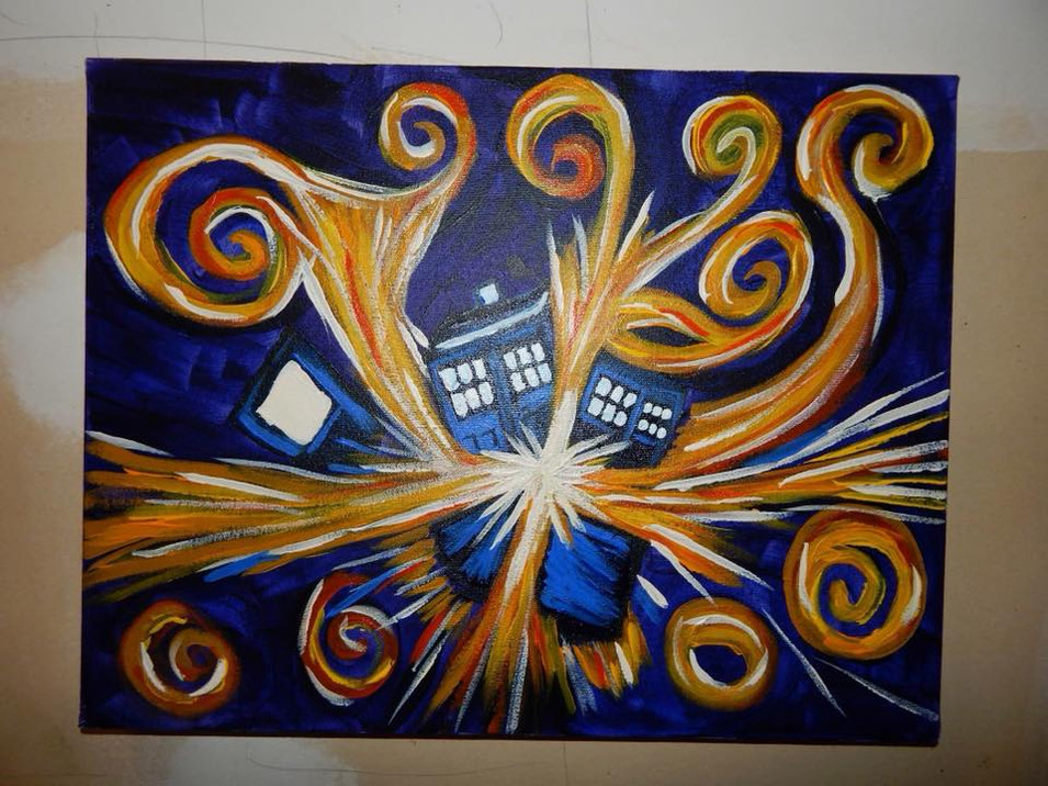 Replication of Doctor Who's Exploding T.A.R.D.I.S. by Van Gogh