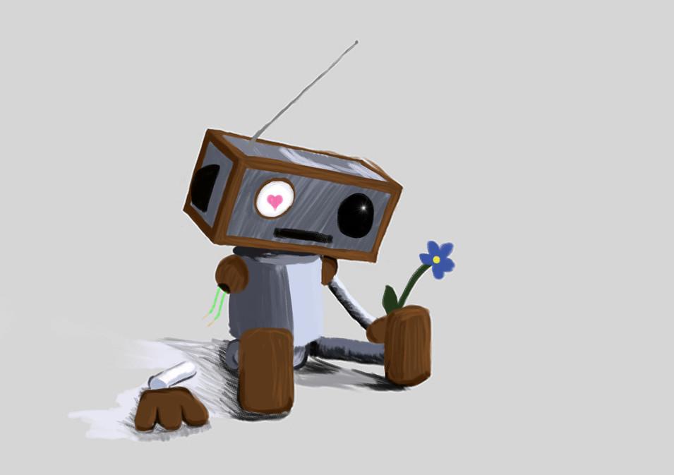 Robot Loves His Flower