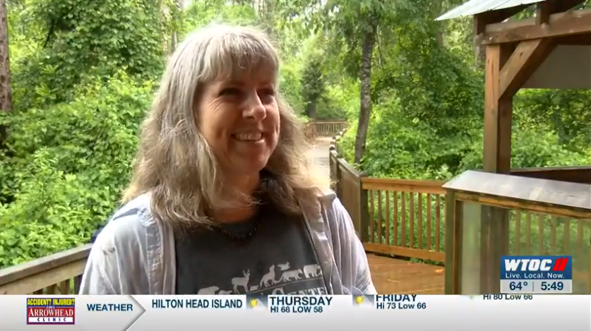 Oatland Island Naturalist Michelle Kelly during a FOOVentures episode