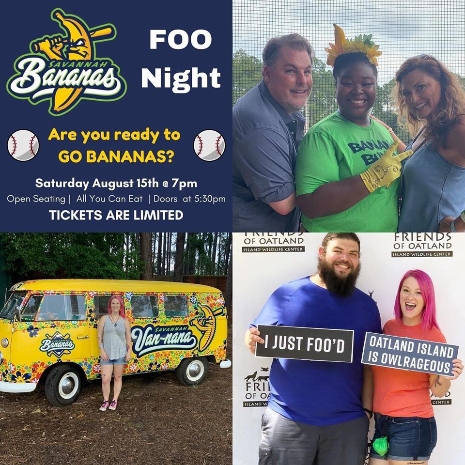 Annual Fundraiser Friends of Oatland at Savannah Bananas