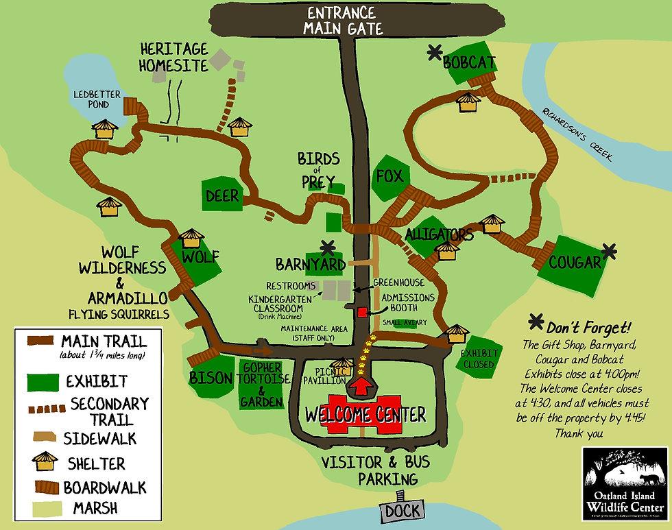 Trail Map Oatland Island Wildlife Center