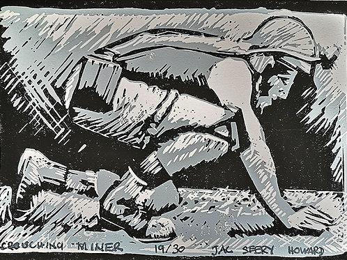 Crouching Miner