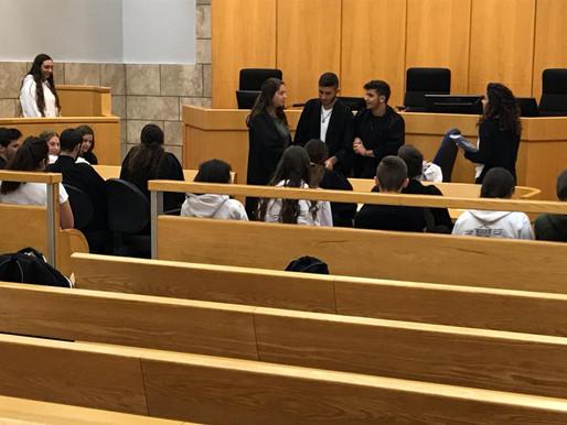 """ביקור תלמידי י""""ב בבית המשפט המחוזי בנצרת"""