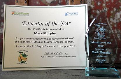 Mark Murphy, 2017 Educator of the Year