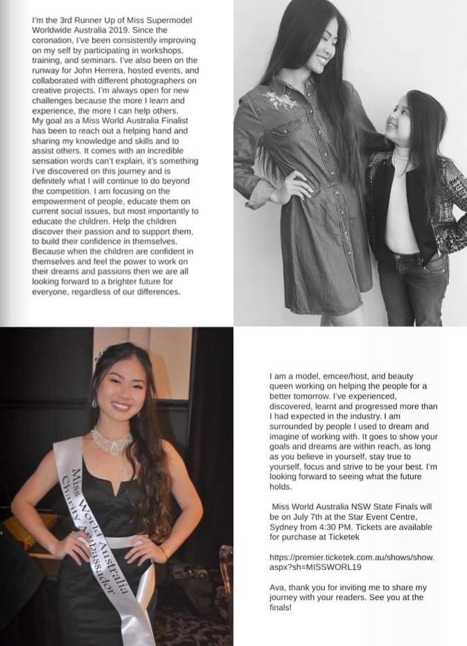Crystel in Ava's World Magazine