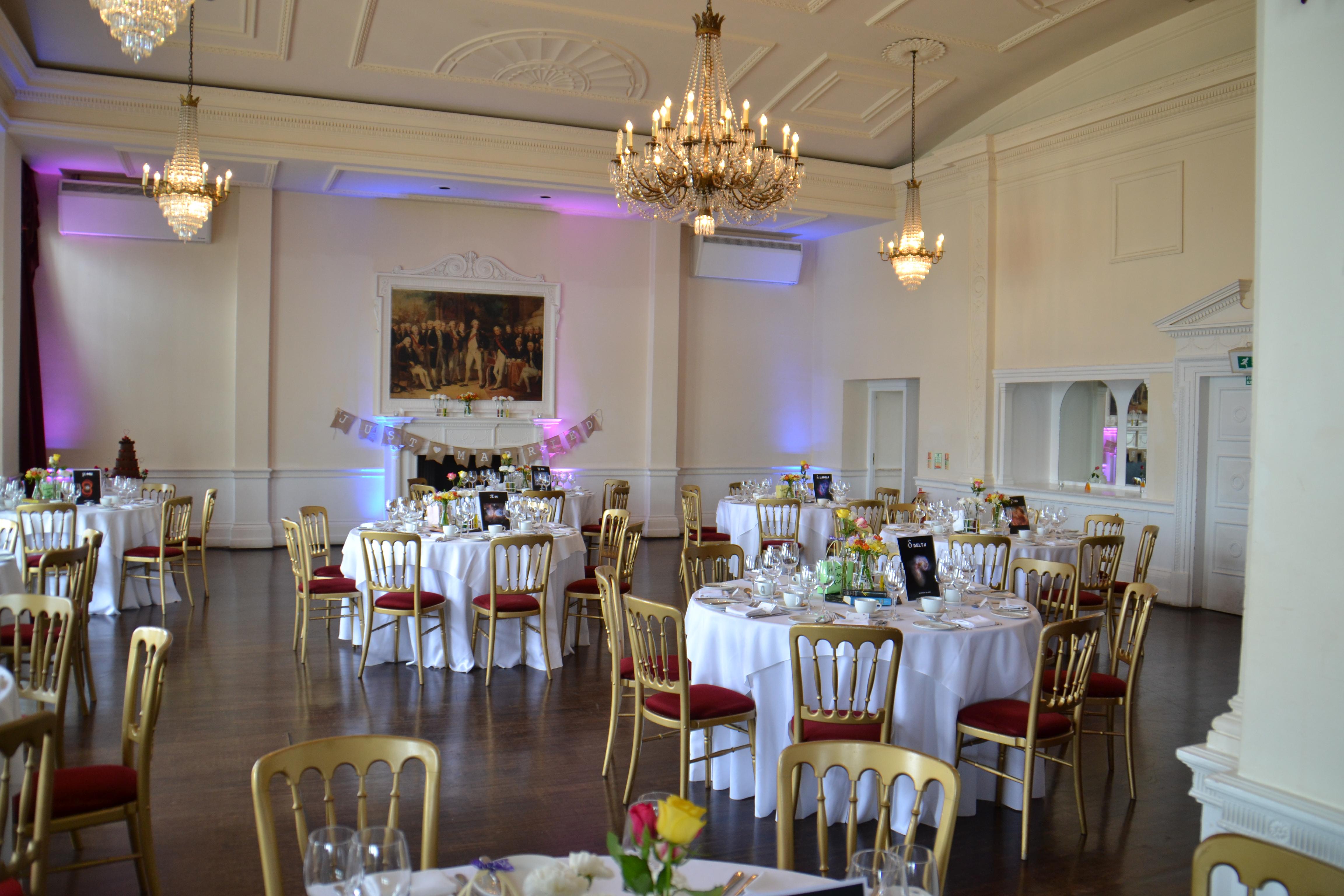 Wedding venue layout