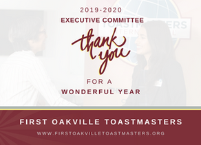 Thanks a Million, 2019-2020 Executive Committee Members!
